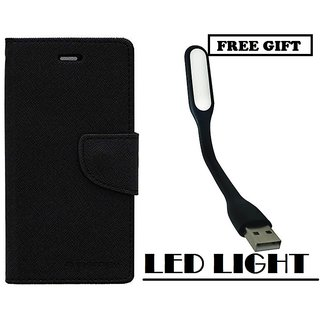 Vivo Y53 Flip Cover Mercury Case With Free LED Light  By Vinnx