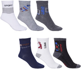 Royal Son Multicolor Cotton Unisex Ankle Socks Set of 6 Pair