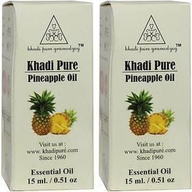 Khadi Pure Herbal Pineapple Essential Oil - 15ml (Set of 2)