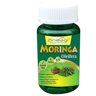 Zindagi Moringa Capsules - Natural Moringa Powder - Suagrfree Health Supplement - Best For Weight Loss