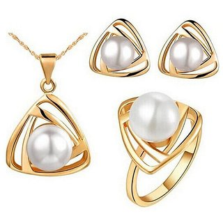 RM Jewellers 92.5 Sterling Silver American Pearl Pendant Set For Women ( RMJPS88835 )