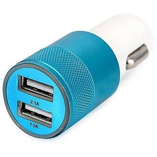 CP Bigbasket Economy 2 USB Port Car Charger 1.0A  2.1A v8/samsung/micromax/karbann+etc 1 pc