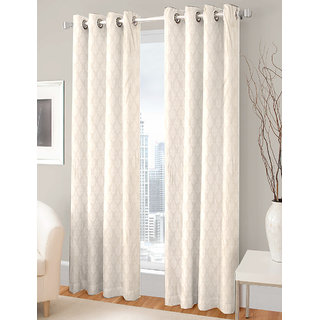 Gharshingar Primium Grey Abstract Polyester Set of 4 Curtains