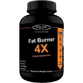 Sinew Nutrition Natural Fat Burner 4X (Green Tea, CLA, Green Coffee  Garcinia Cambogia Extract) -  60 Veg Capsules