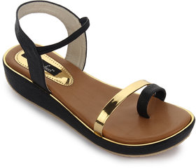 Funku Fashion Women's Black Sandals