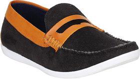Rimoni Men Elegant Black Loafers