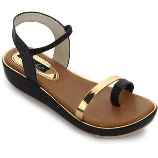 Funku Fashion Women's Black Sandals