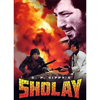 Sholay (Full Hindi Movie) HD print (not original) BURN DATA DVD