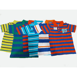 Design Plus Printed Polo Cotton T-shirts Set of 6
