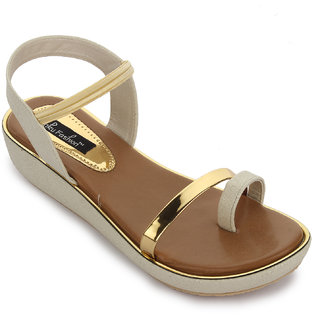 Funku Fashion Women's White Sandals