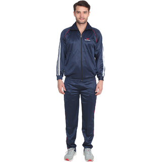 Swaggy Solid Mens Track Suit Blue
