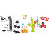 FREE 3 in 1 MENS TRIMMER CORDLESS RECHARGEABLE NS-216 MEN HAIR TRIMMER SHAVING RAZOR MACHINE CLIPPER