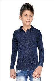 Thread Villa Men's Navy Blue T-shirt