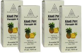 Khadi Pure Herbal Pineapple Essential Oil - 15ml (Set of 4)