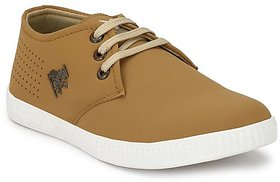 Vinod Shoes Tan Casual Stylish LaceUp Shoe For Men