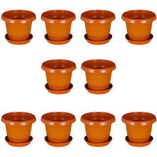 Crete (10 inch) Planter With Plate- Set of 10