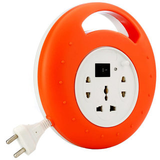 Mettle Extension Board 6 Amp-240 Volts 3 Plug Point with Master Switch, LED Indicator, Extension Cord (10 Meter).