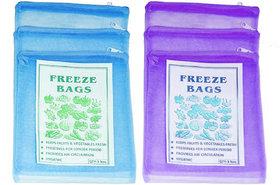 6 pcs Multipurpose Fridge Storage Bags for Fruits and Vegetables