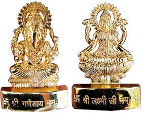 Ganesh Laxmi Gold Plated Idol