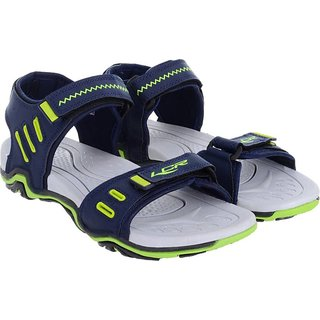 29a4fb5dd Buy LANCER MEN COMFORTABLE NAVY BLUE   GREEN COLOR FLOATERS  SANDALS ( 28 )  Online   ₹499 from ShopClues