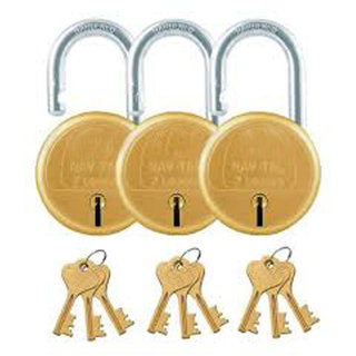 Lock For your Home Sefty(3 Pics Goldren Colour)