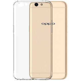 Oppa A59 Soft Silicon Clear Transparent  Back Cover