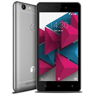 JIVI PRIME P444 DUAL SIM  4G VoLTE PHONE WITH 16 GB ROM  2 GB RAM  FINGERPRINT  SENSOR  ANDROID  7.0 NOUGAT - Grey