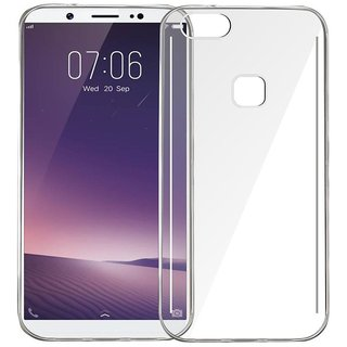 Vivo V7 Soft Silicon Clear Transparent  Back Cover