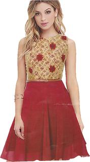 Vatika Red Western Dress By Shreeji Collection