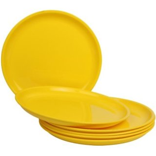 DSZONE DINNER PLATE COLOR YELLOW SET OF 18 PC