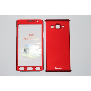 Samsung Galaxy On7 Red Colour 360 Degree Full Body Protection Front Back Case Cover Standard Quality