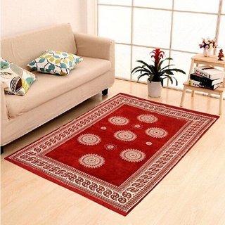 Manvi Creations chenille carpet (5x7)