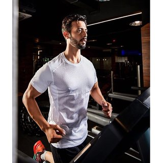 Guys Gym Wear Drifit White Tshirt from Klothoflex