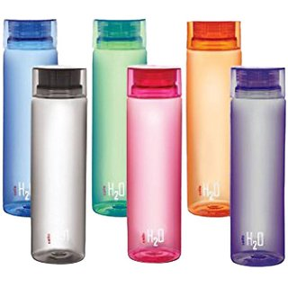 Angels Store Cello H20 Water Bottle 1000 Ml PET pack of 6