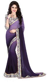 party wear plain  saree