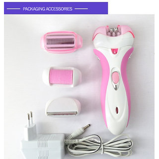 Kemei 4in1 Lady Electric Epilator Rechargeable Hair Remover Multifunctional Full Body Skin Care Shaver Women Skin Care K