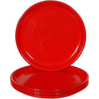 DSZONE 10 INCH DINNER PLATE COLOR RED SET OF 6 PLATE  sc 1 st  Shopclues & Buy DSZONE 10 INCH DINNER PLATE COLOR RED SET OF 6 PLATE Online ...
