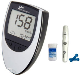 Dr. Morepen BG-03 Gluco One Glucometer, Blood Sugar Meter Diabetes Testing Meter