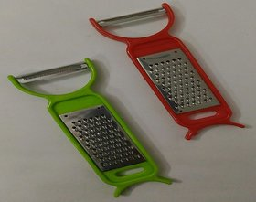 Multipurpose Peeler and Grater ( pack of 2 ) Made Of plastic and stainless steel ( Free Shipping )