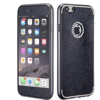 iPhone 7 4.7 inch Glitter Soft Silicon Back Case Cover - Black