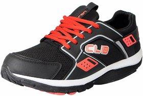 Columbus Mens Kp-4 Black Red Sports Running Shoes