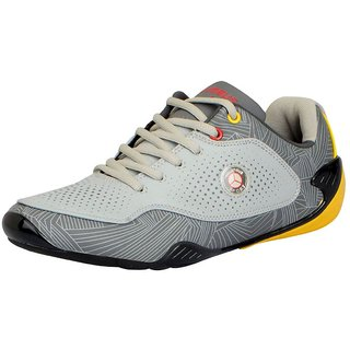 Columbus Men's CRUISE Grey Yellow Sports  Running Shoes