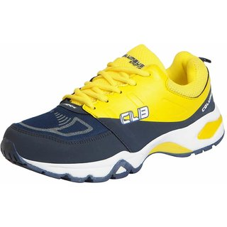 Columbus Men's SKM-20 NAVY YELLOW Sports Running Shoes