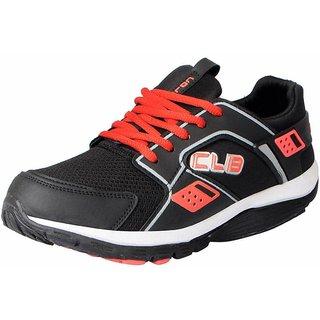 Columbus Men's KP-4 Black Red Sports  Running Shoes