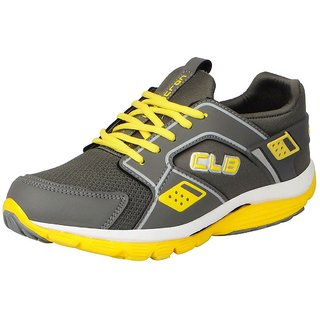 456fcaa451e9 Columbus Men s KP-4 Grey Yellow Sports Running Shoes