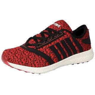 Columbus Mens SKM-03 Red Black Sports Running Shoes