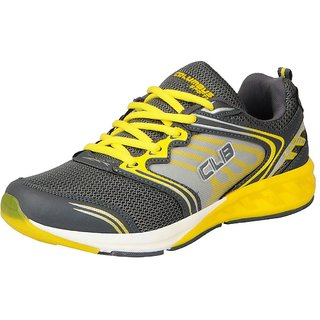 Columbus Men's SKM-23 Grey Yellow Sports  Running Shoes