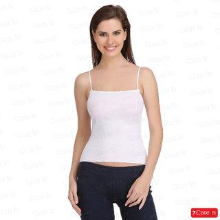 ada41bc3adbf6b Buy Care In Women s Cotton Camisole   Spaghetti   Tank Top - White ...