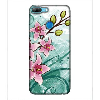 For Huawei Honor 9 Lite pink flower, flower, vector background Designer Printed High Quality Smooth Matte Protective Mobile Case Back Pouch Cover by Human Enterprises