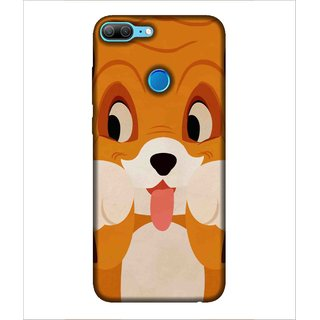 For Huawei Honor 9 Lite cute dog, vector, dog, nice dog Designer Printed High Quality Smooth Matte Protective Mobile Case Back Pouch Cover by Human Enterprises
